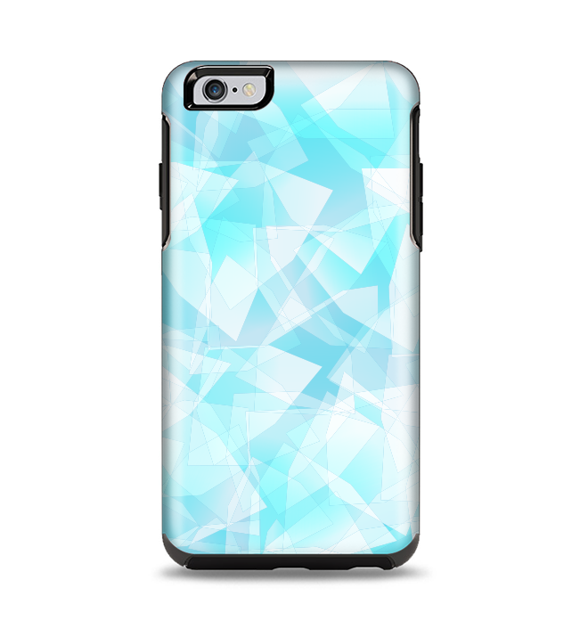 The Vector Abstract Shaped Blue Overlay Apple iPhone 6 Plus Otterbox Symmetry Case Skin Set