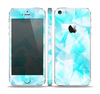 The Vector Abstract Shaped Blue Overlay Skin Set for the Apple iPhone 5
