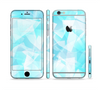 The Vector Abstract Shaped Blue Overlay Sectioned Skin Series for the Apple iPhone 6