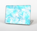 "The Vector Abstract Shaped Blue Overlay Skin Set for the Apple MacBook Pro 15"" with Retina Display"