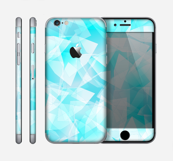 The Vector Abstract Shaped Blue Overlay Skin for the Apple iPhone 6