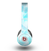The Vector Abstract Shaped Blue Overlay Skin for the Beats by Dre Original Solo-Solo HD Headphones