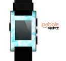 The Vector Abstract Shaped Blue Overlay Skin for the Pebble SmartWatch
