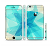 The Vector Abstract Shaped Blue Overlay V2 Sectioned Skin Series for the Apple iPhone 6