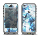 The Vector Abstract Shaped Blue Overlay V3 Apple iPhone 5c LifeProof Nuud Case Skin Set