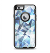 The Vector Abstract Shaped Blue Overlay V3 Apple iPhone 6 Otterbox Defender Case Skin Set