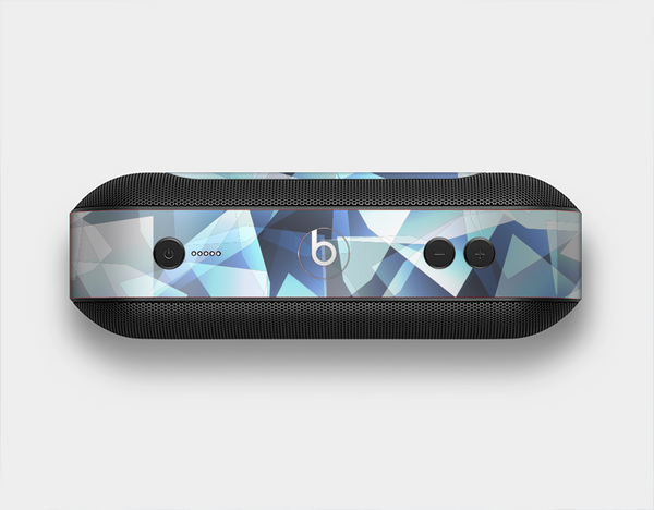 The Vector Abstract Shaped Blue Overlay V3 Skin Set for the Beats Pill Plus