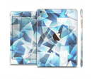 The Vector Abstract Shaped Blue Overlay V3 Full Body Skin Set for the Apple iPad Mini 3