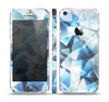 The Vector Abstract Shaped Blue Overlay V3 Skin Set for the Apple iPhone 5