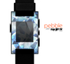 The Vector Abstract Shaped Blue Overlay V3 Skin for the Pebble SmartWatch