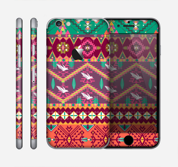 The Vector Aztec Birdy Pattern Skin for the Apple iPhone 6