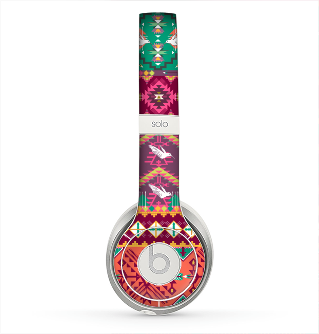 The Vector Aztec Birdy Pattern Skin for the Beats by Dre Solo 2 Headphones