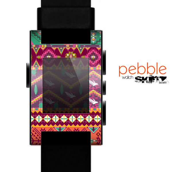 The Vector Aztec Birdy Pattern Skin for the Pebble SmartWatch