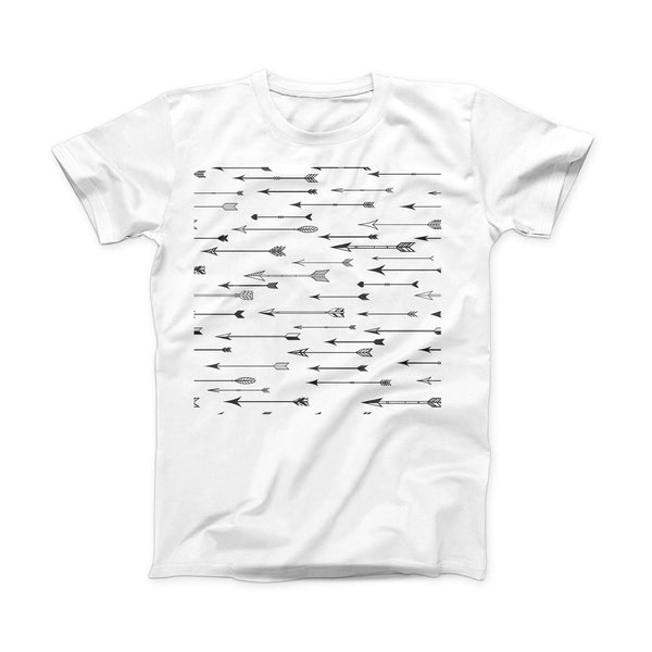 The Vector Black Arrows ink-Fuzed Front Spot Graphic Unisex Soft-Fitted Tee Shirt