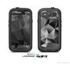 The Vector Black & White Abstract Connect Pattern Skin For The Samsung Galaxy S3 LifeProof Case