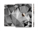 The Vector Black & White Abstract Connect Pattern Full Body Skin Set for the Apple iPad Mini 3