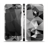 The Vector Black & White Abstract Connect Pattern Skin Set for the Apple iPhone 5