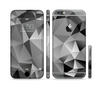 The Vector Black & White Abstract Connect Pattern Sectioned Skin Series for the Apple iPhone 6