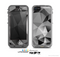 The Vector Black & White Abstract Connect Pattern Skin for the Apple iPhone 5c LifeProof Case