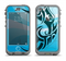 The Vector Blue Abstract Fish Apple iPhone 5c LifeProof Nuud Case Skin Set