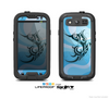The Vector Blue Abstract Fish Skin For The Samsung Galaxy S3 LifeProof Case