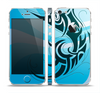 The Vector Blue Abstract Fish Skin Set for the Apple iPhone 5