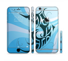 The Vector Blue Abstract Fish Sectioned Skin Series for the Apple iPhone 6