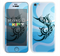 The Vector Blue Abstract Fish Skin for the Apple iPhone 5c