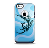 The Vector Blue Abstract Fish Skin for the iPhone 5c OtterBox Commuter Case