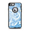 The Vector Blue Abstract Swirly Design Apple iPhone 6 Otterbox Defender Case Skin Set