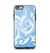 The Vector Blue Abstract Swirly Design Apple iPhone 6 Plus Otterbox Symmetry Case Skin Set