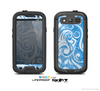 The Vector Blue Abstract Swirly Design Skin For The Samsung Galaxy S3 LifeProof Case