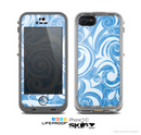 The Vector Blue Abstract Swirly Design Skin for the Apple iPhone 5c LifeProof Case