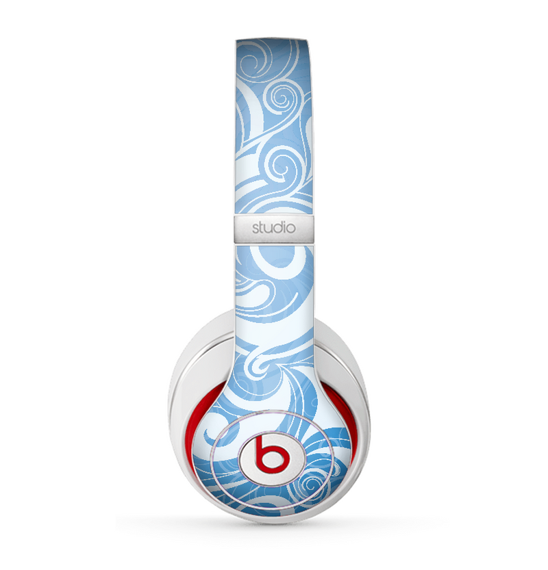 The Vector Blue Abstract Fish Skin for the Beats by Dre Studio (2013+ Version) Headphones