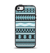 The Vector Blue & Black Aztec Pattern V2 Apple iPhone 5-5s Otterbox Symmetry Case Skin Set