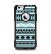 The Vector Blue & Black Aztec Pattern V2 Apple iPhone 6 Otterbox Commuter Case Skin Set
