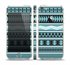 The Vector Blue & Black Aztec Pattern V2 Skin Set for the Apple iPhone 5s