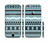 The Vector Blue & Black Aztec Pattern V2 Sectioned Skin Series for the Apple iPhone 6 Plus
