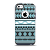 The Vector Blue & Black Aztec Pattern V2 Skin for the iPhone 5c OtterBox Commuter Case
