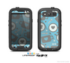 The Vector Blue & Gray Coffee Hearts Pattern Skin For The Samsung Galaxy S3 LifeProof Case