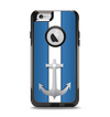 The Vector Blue and Gray Anchor with White Stripe Apple iPhone 6 Otterbox Commuter Case Skin Set