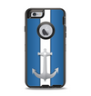 The Vector Blue and Gray Anchor with White Stripe Apple iPhone 6 Otterbox Defender Case Skin Set