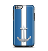 The Vector Blue and Gray Anchor with White Stripe Apple iPhone 6 Plus Otterbox Symmetry Case Skin Set