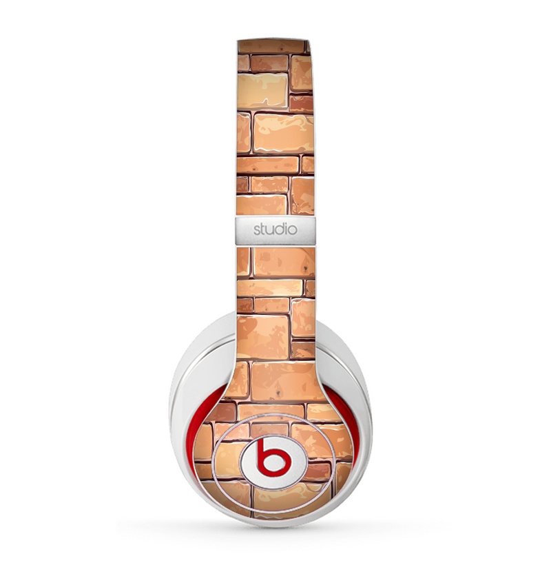 The Vector Brick Wall Slabs Skin for the Beats by Dre Studio (2013+ Version) Headphones