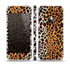 The Vector Brown Leopard Print Skin Set for the Apple iPhone 5
