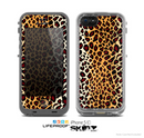 The Vector Brown Leopard Print Skin for the Apple iPhone 5c LifeProof Case