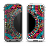 The Vector Colored Aztec Pattern WIth Black Connect Point Apple iPhone 5-5s LifeProof Fre Case Skin Set
