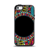 The Vector Colored Aztec Pattern WIth Black Connect Point Apple iPhone 5-5s Otterbox Symmetry Case Skin Set