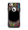 The Vector Colored Aztec Pattern WIth Black Connect Point Apple iPhone 6 Otterbox Commuter Case Skin Set