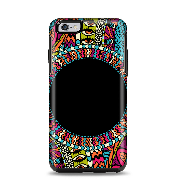 The Vector Colored Aztec Pattern WIth Black Connect Point Apple iPhone 6 Plus Otterbox Symmetry Case Skin Set
